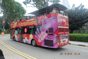 SIngapore City Buss for SIght Seeing bayar dong jadi gak naik deh :)